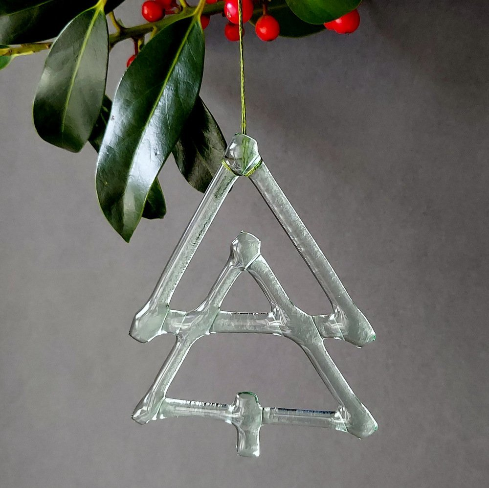 Helen Smith Glass, Recycled Glass Christmas Tree Decoration